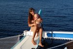 Keanu and Sonne enjoying the sunset (Koh Rawi) (Wedekind Maria)