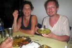 Enjoying vegetarian Indian food in Port Blair (Schlossbermartin)