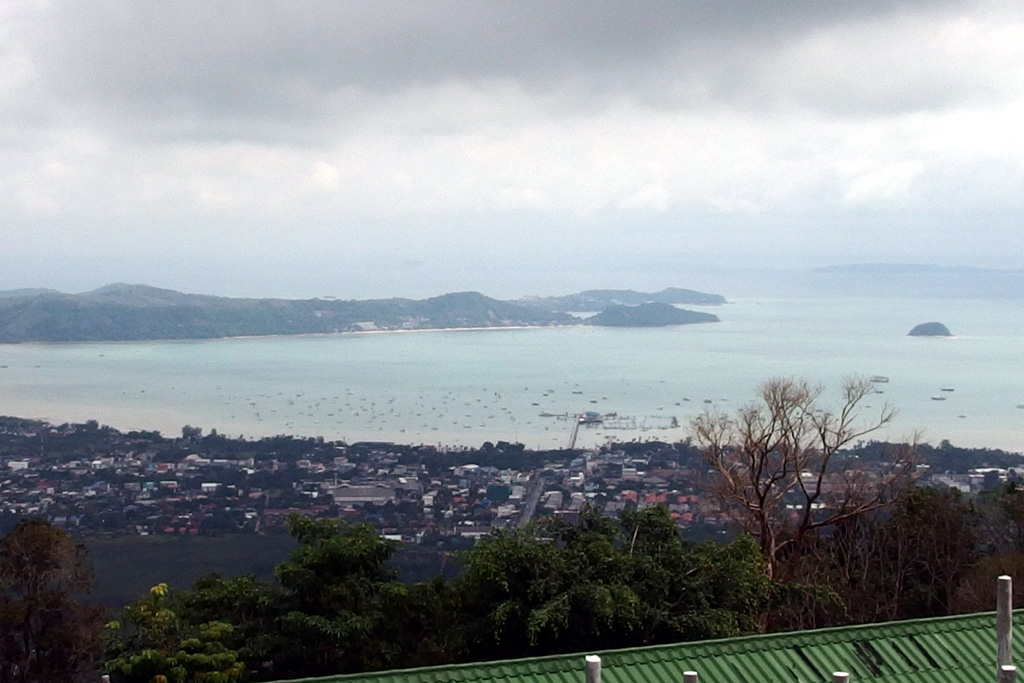View from big Buddha towards Ao Chalong