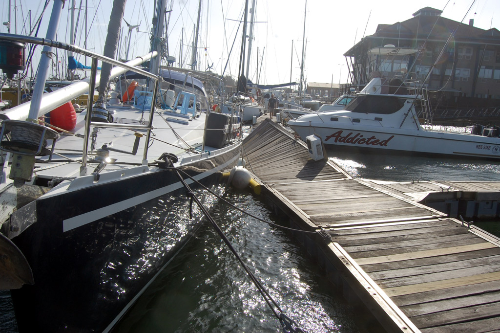Damaged Pontoons at Tuzi Gazi Marina